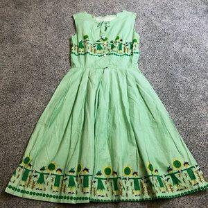 Vintage 1960s Gingham Scarecrow Dress Handmade